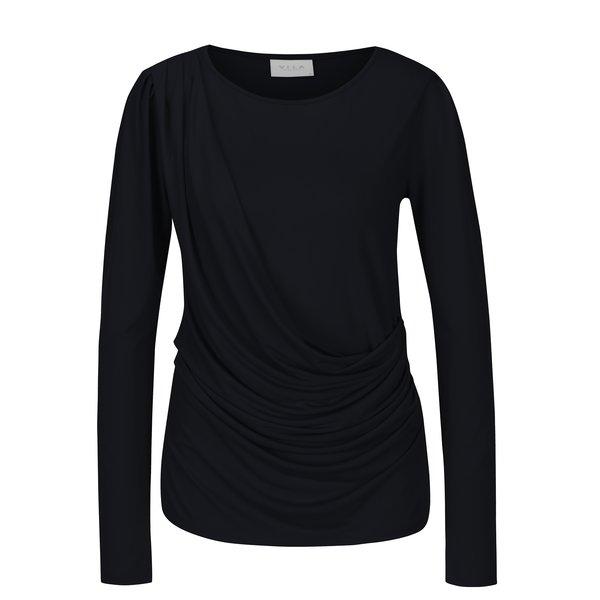 Bluza bleumarin cu falduri asimetrice - VILA Eltina