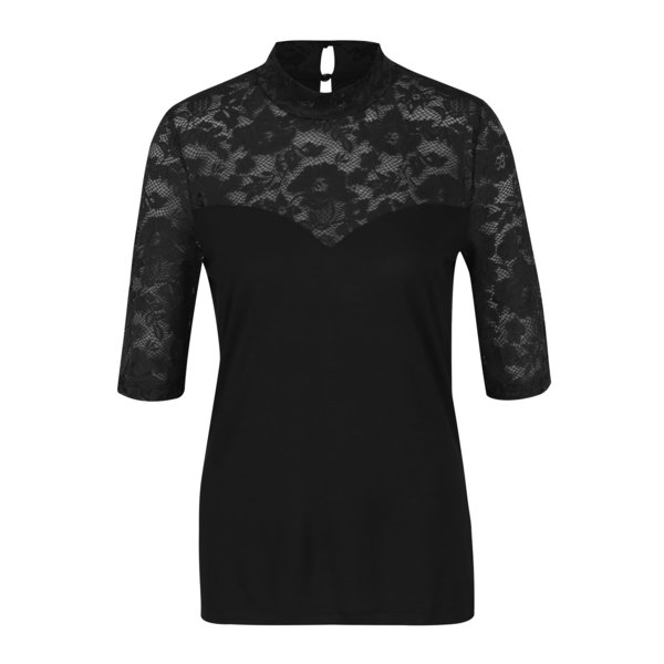 Bluza neagra cu dantela VERO MODA Sara