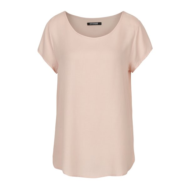 Tricou roz cu decolteu amplu - Haily´s Doris