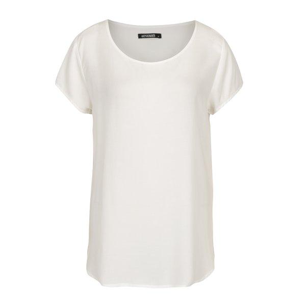 Tricou alb prafuit cu decolteu amplu - Haily´s Dori