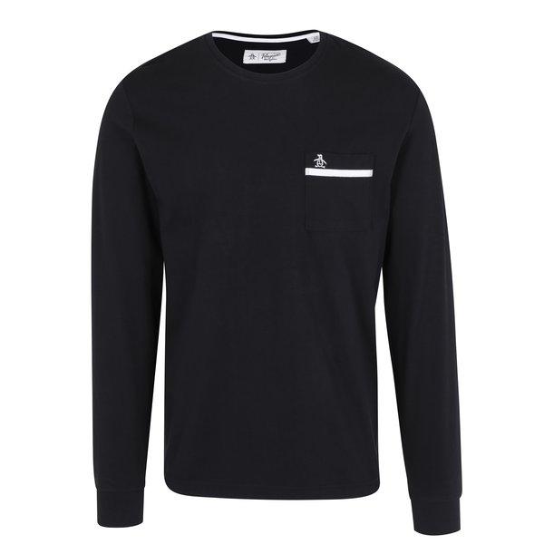 Bluza neagra din bumbac cu buzunar la piept - Original Penguin Tape Pocket