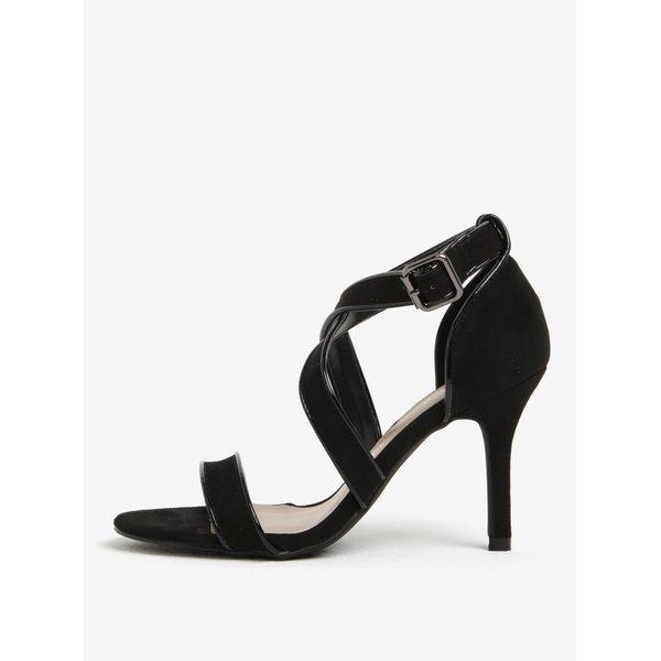 Sandale negre cu toc cui si catarama Dorothy Perkins