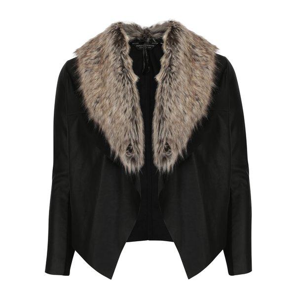 Jacheta neagra din piele sintetica Dorothy Perkins Curve