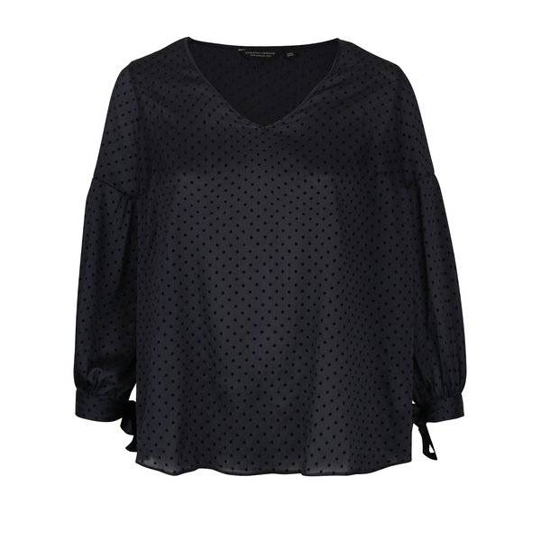Bluza neagra lejera cu buline Dorothy Perkins Curve