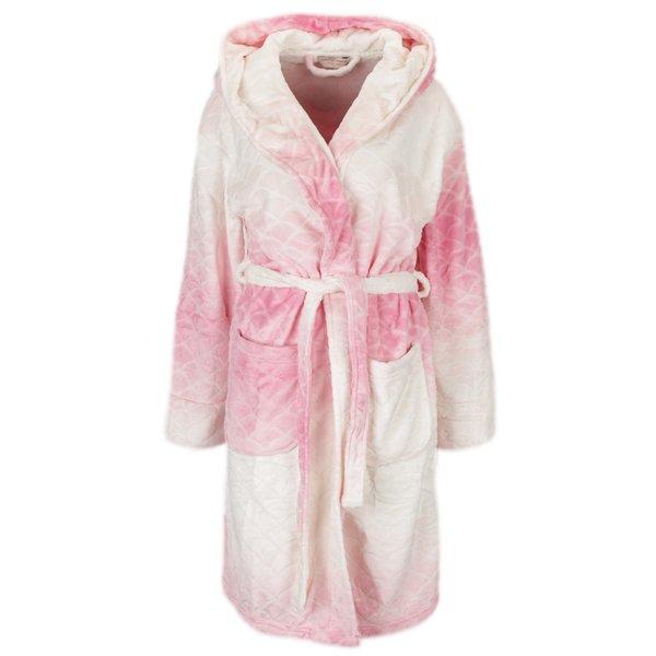 Halat de baie crem cu roz cu model in relief Dorothy Perkins