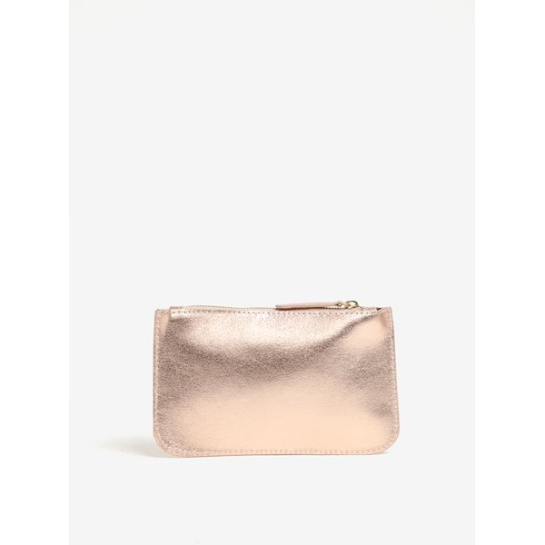 Geanta pentru cosmetice auriu rose din piele naturala - ZOOT