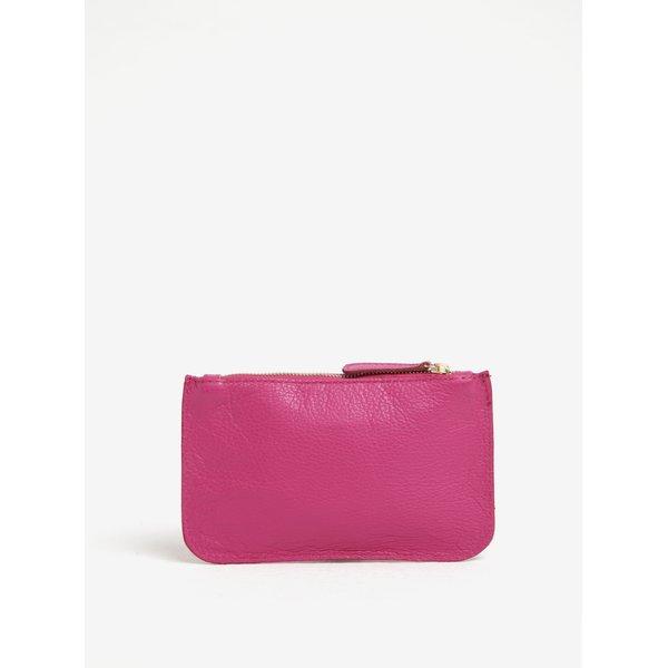 Geanta pentru cosmetice roz din piele naturala - ZOOT