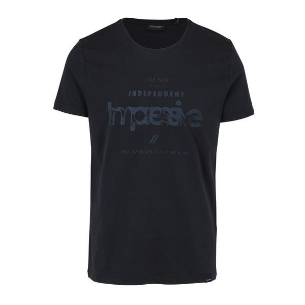 Tricou negru cu print pentru barbati – Broadway Bennie