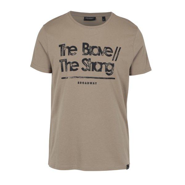 Tricou maro deschis cu print – Broadway Bennie