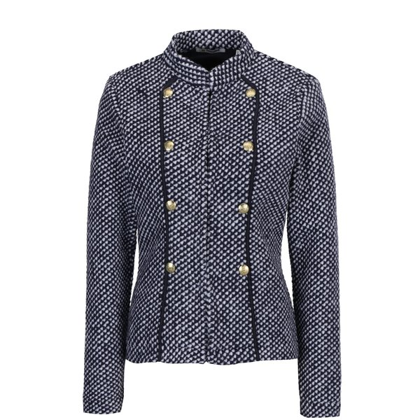 Jacheta scurta albastra din stofa - Rich & Royal