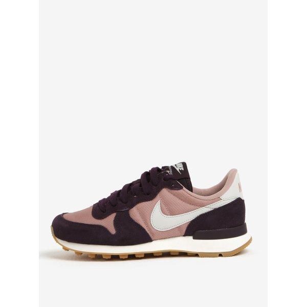 Pantofi sport roz&mov cu detalii din piele intoarsa pentru femei Nike Internationalist