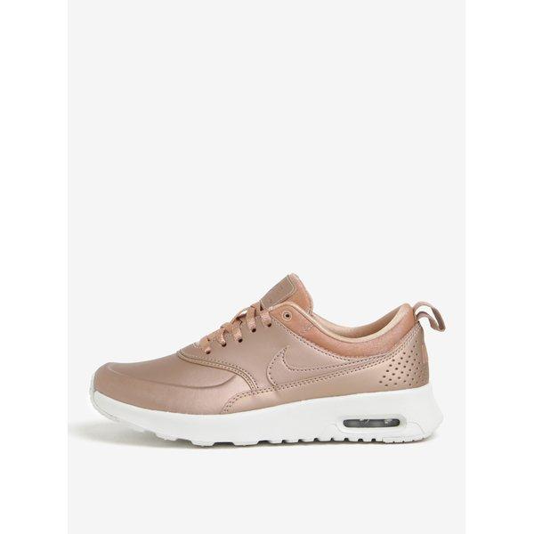 Pantofi sport roz&alb cu aspect metalic pentru femei Nike Air Max Thea