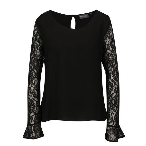 Bluza neagra cu maneci de dantela Broadway Saniya