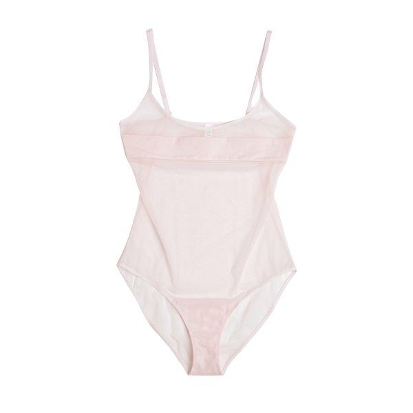 Body roz pal translucid cu banda NALU Underwear