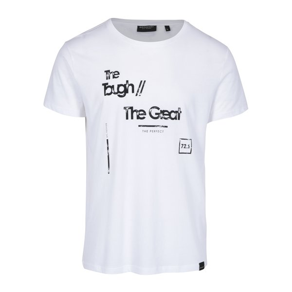 Tricou alb cu print pentru barbati – Broadway Bennie