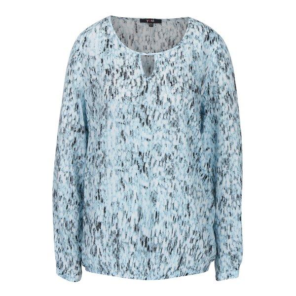 Bluza bleu cu decupaj in zona decolteului – Yest