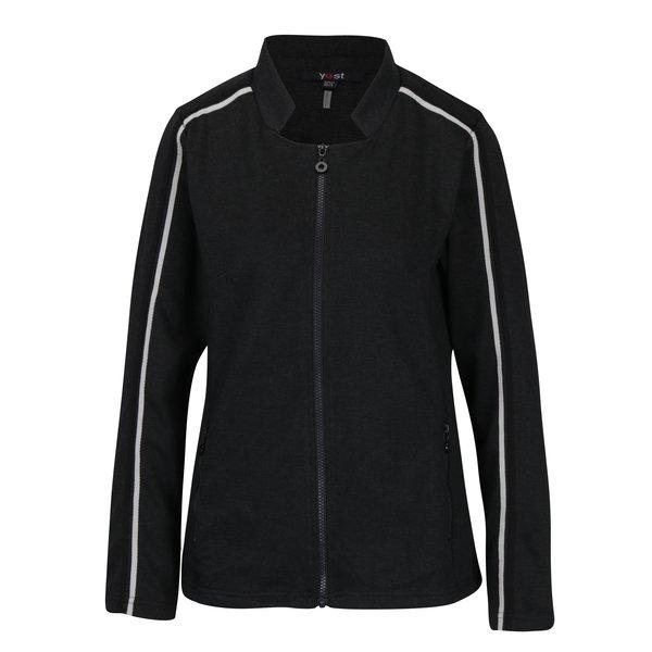 Jacheta sport neagra cu guler decupat - Yest