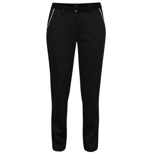 Pantaloni sport gri inchis cu dunga pe lateral - Yest