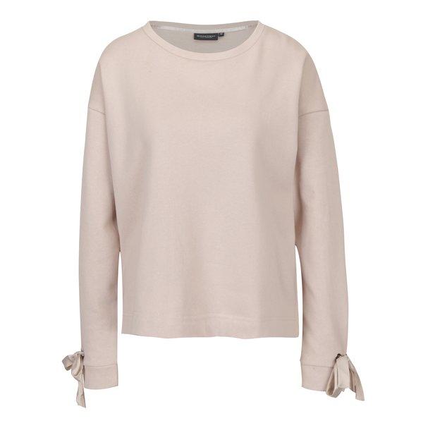 Bluza asimetrica roz cu funda pe maneca Broadway Sui
