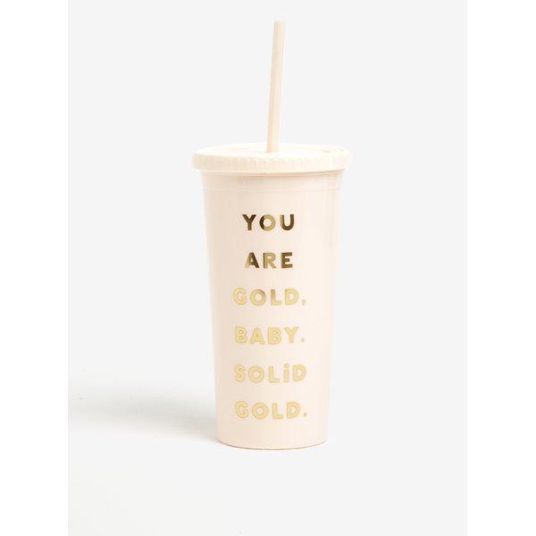 Pahar cu pai crem si mesaj amuzant - ban.dō You are gold