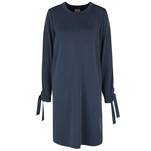 Rochie albastra cu maneci si panglici de prindere la maneci - Selected Femme Tea