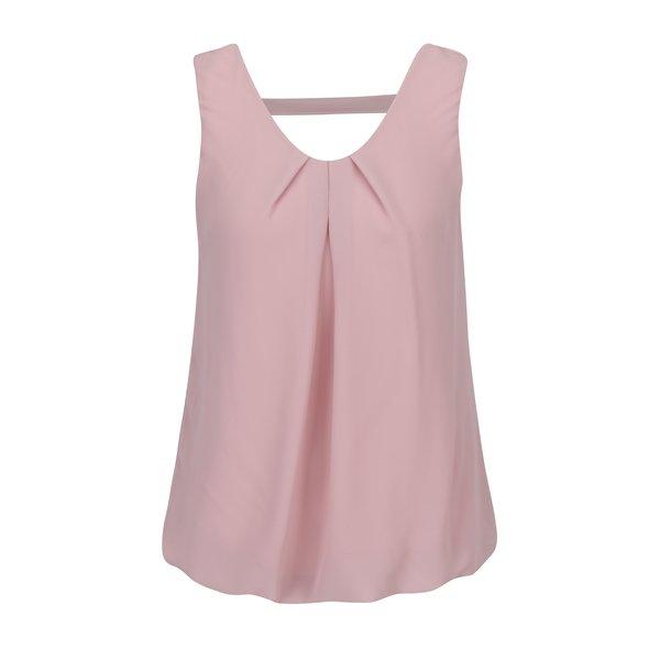 Top roz prafuit cu pense si decupaj pe spate - Haily´s Elena
