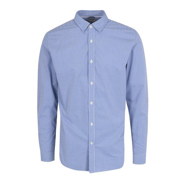 Camasa slim fit albastra in carouri Selected Homme