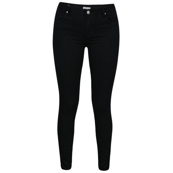 Pantaloni negri slim fit cu buzunare - Hailys Hanna