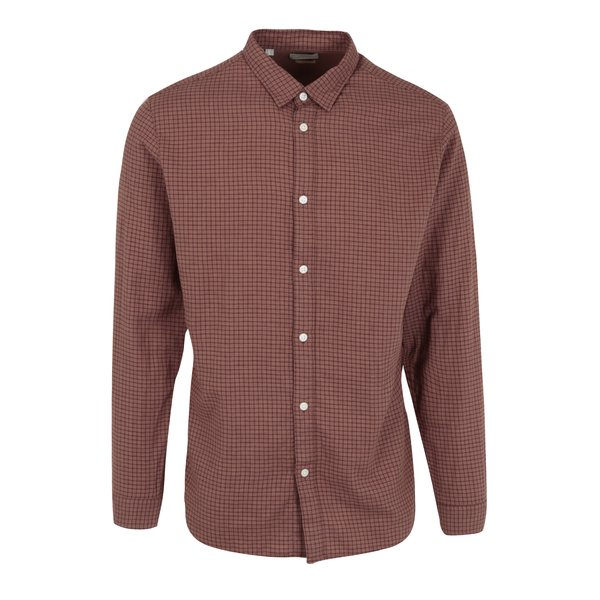 Camasa slim fit maro in carouri Selected Homme One Paw