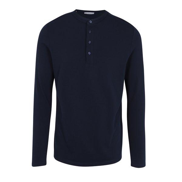 Bluza polo bleumarin cu guler tunica Selected Homme Edan