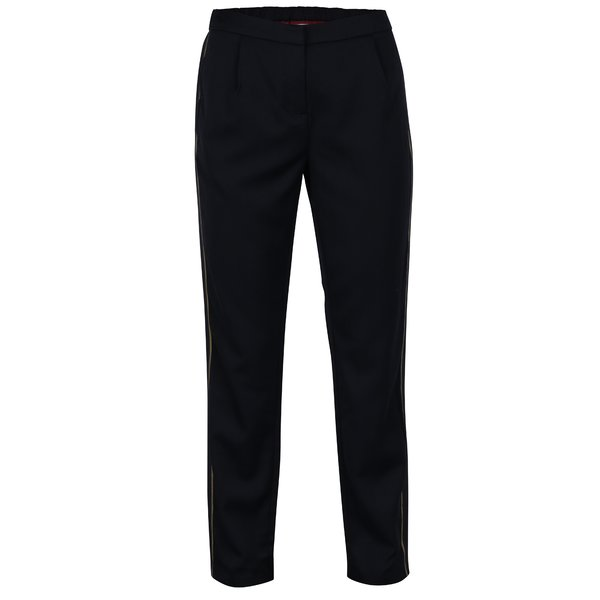 Pantaloni bleumarin cu dunga decorativa si talie elastica VILA Allessia
