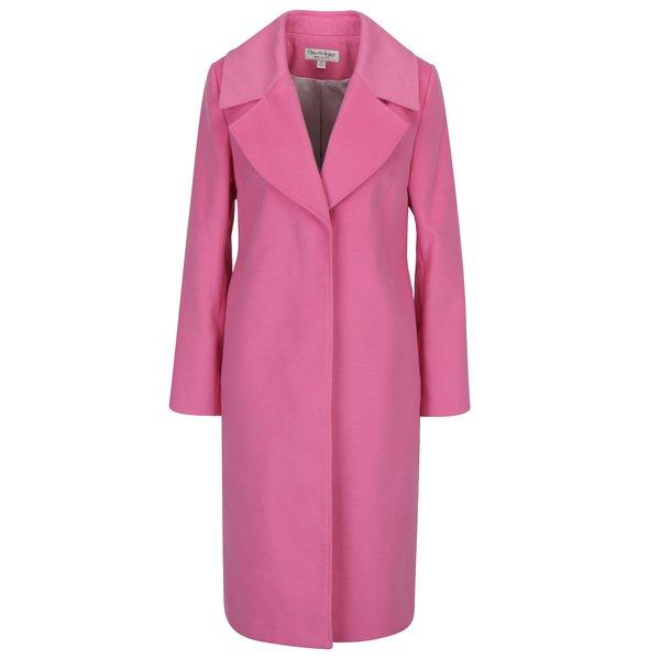 Palton roz cu revere Miss Selfridge