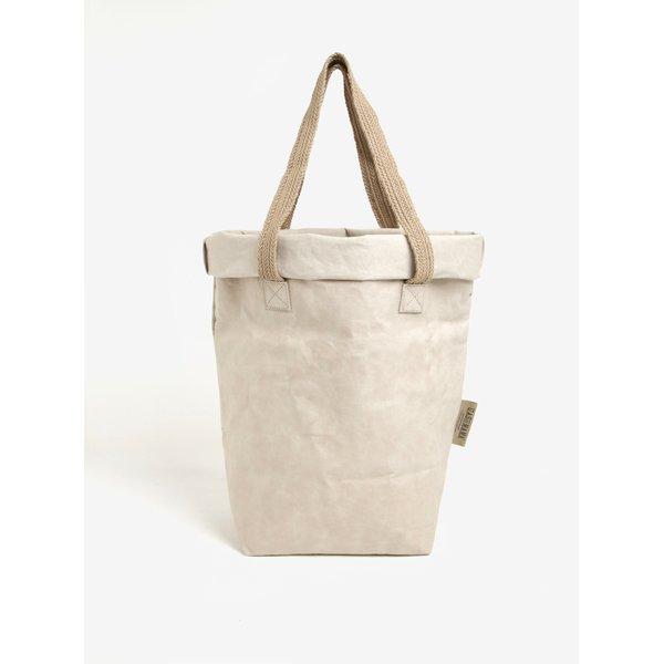 Geanta shopper bej ecologica UASHMAMA® Carry Two