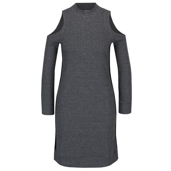 Rochie pulover gri cu decupaj la umeri Juicy Couture