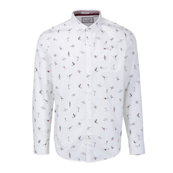 Camasa alba slim fit cu print vesel - Original Penguin Mini Clumsy