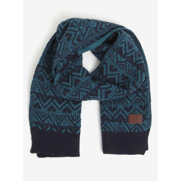 Fular albastru & negru din amestec de lana - ONeill
