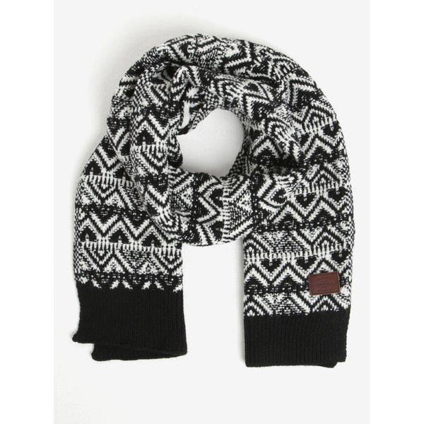 Fular alb & negru din amestec de lana - ONeill