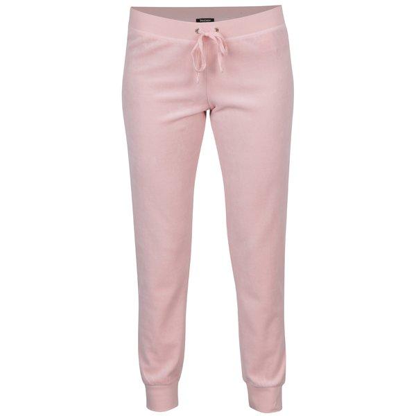 Pantaloni roz din catifea cu buzunare - Juicy Couture