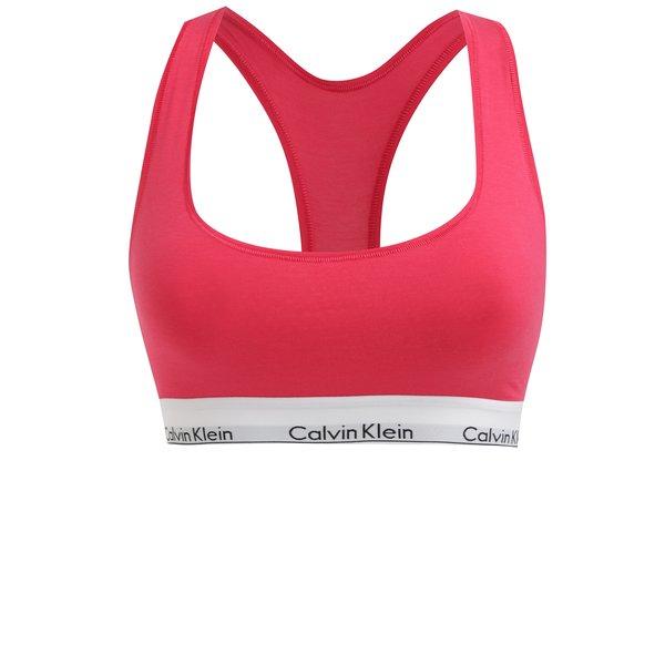 Bustier sport roz cu banda elastica cu logo - Calvin Klein