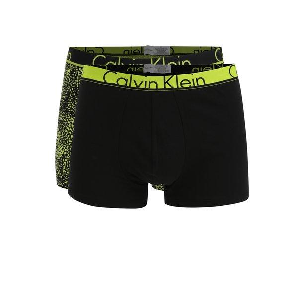 Set de 2 perechi de boxeri negri cu banda elastica si logo - Calvin Klein