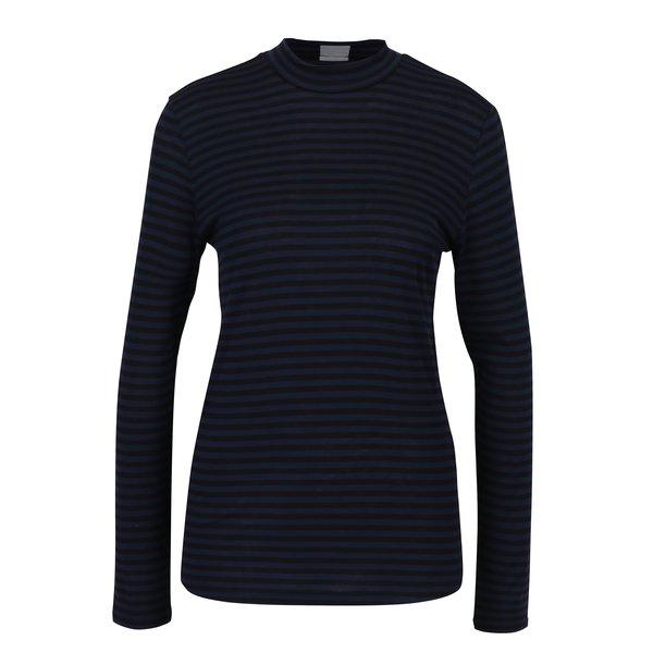 Bluza neagra cu dungi albastre - Jacqueline de Yong Spirit
