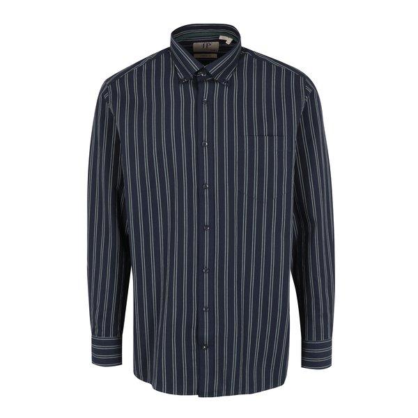 Camasa casual bleumarin cu guler buttons down si dungi - JP 1880