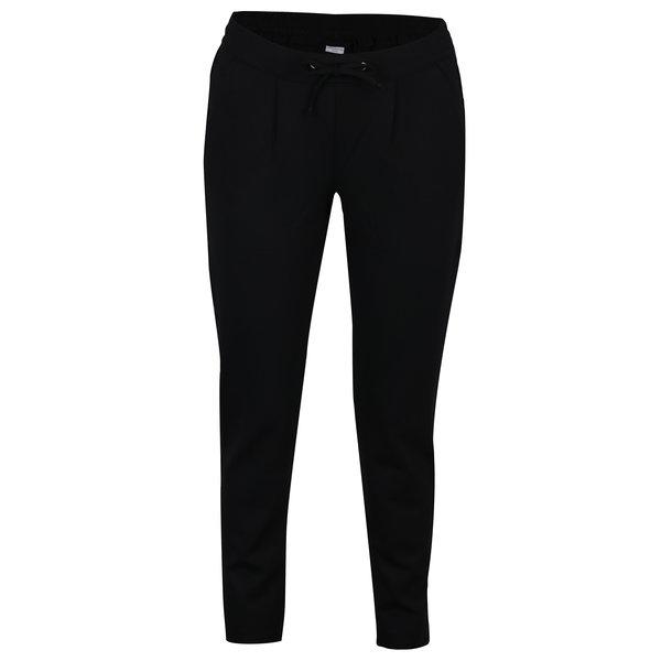 Pantaloni sport negri cu dunga din catifea - Jacqueline de Yong Trainer