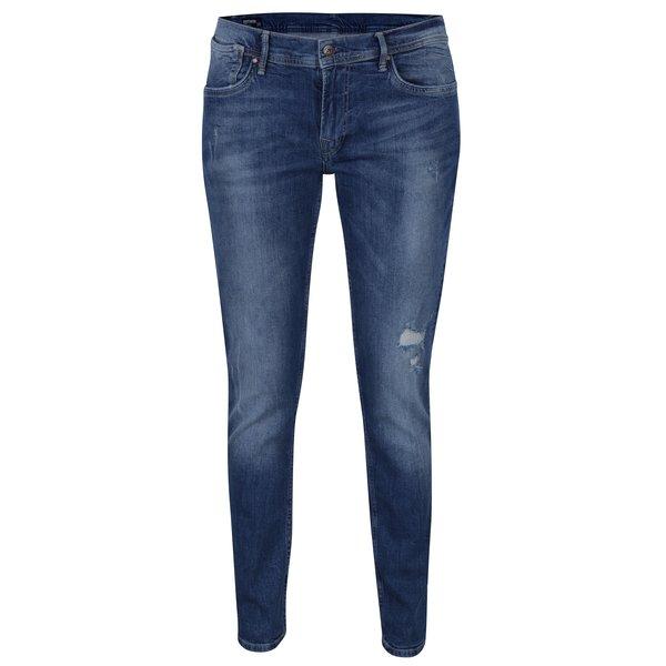 Blugi boyfriend albastri cu aspect prespalat pentru femei - Pepe Jeans Joey