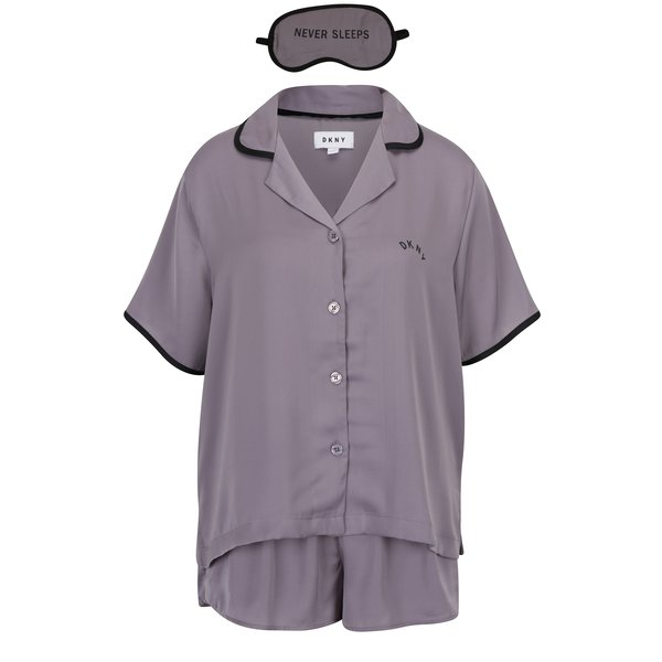 Pijama gri cu masca de dormit - DKNY