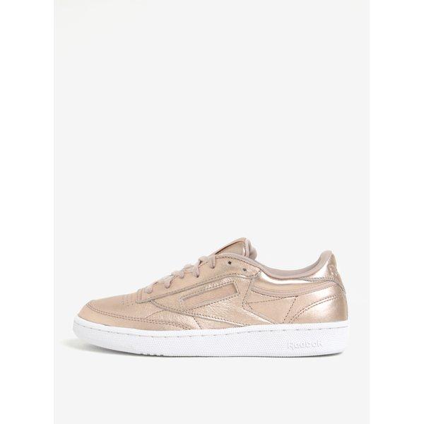 Pantofi sport auriu roze din piele Reebok Club C 85 Melted Metal
