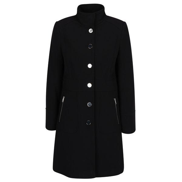 Palton negru cu guler inalt M&Co