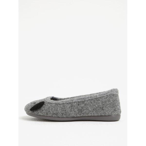 Papuci de casa gri & negru cu aspect de urs koala - OJJU