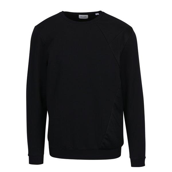 Bluza neagra cu detalii din plasa ONLY & SONS Travis