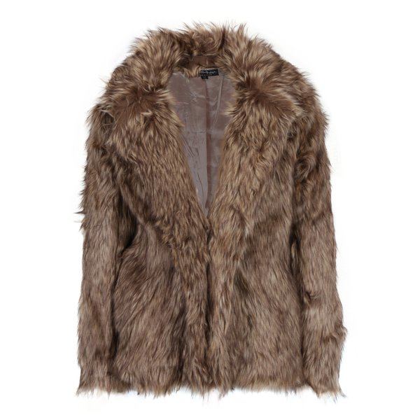 Jacheta maro din blana artificiala - Miss Selfridge